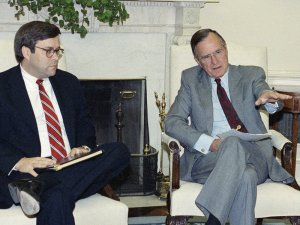 William Barr (AG) et président Bush